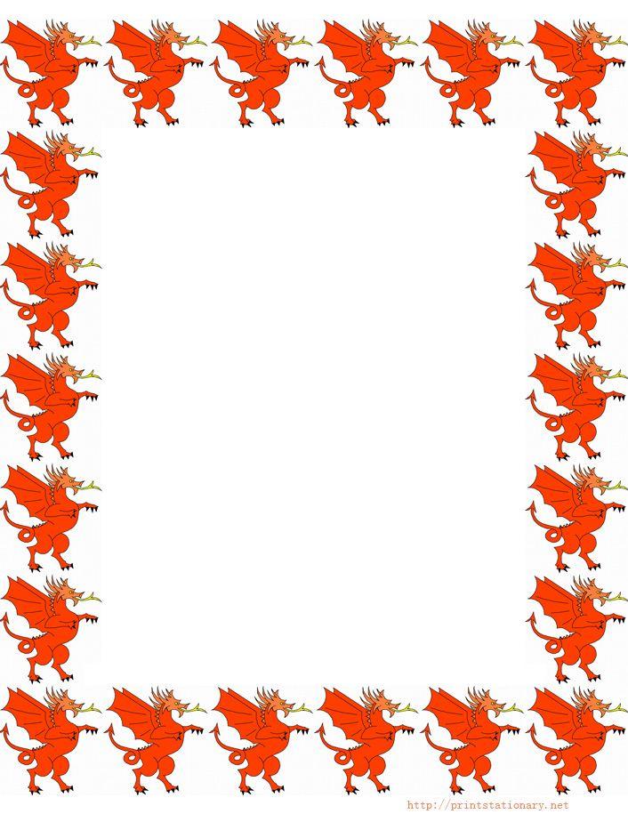 dragones   bordes y tableros   Pinterest   Dragones, Marcos y Marcos ...