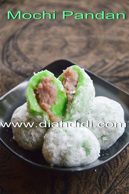 Diah Didi S Kitchen Kue Mochi Pandan Resep Masakan Resep Makanan Manis