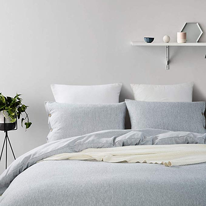 Amazon Com Mukka Duvet Cover King Gray Heather Cotton Like Chambray Simple Style Coconut Button Closure Duvet Cover Beddi King Duvet Cover Duvet Covers Duvet