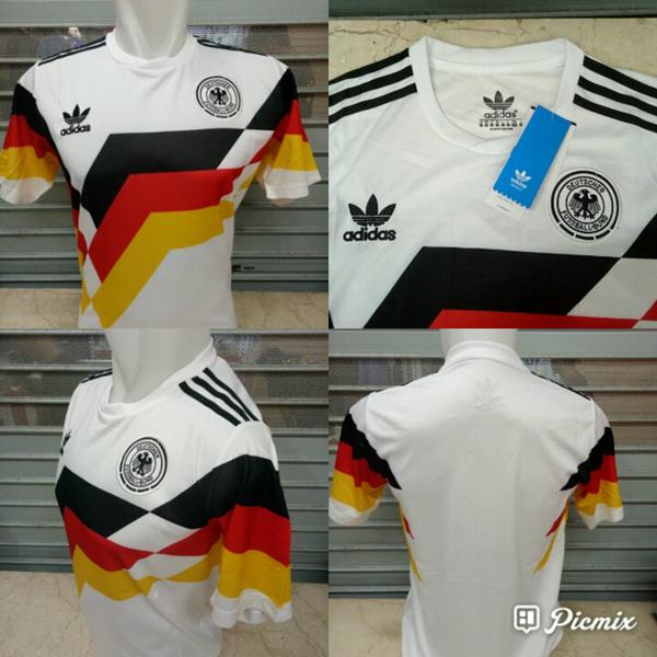 Jersey Retro Jerman Home Piala Dunia 1990 Grade Ori