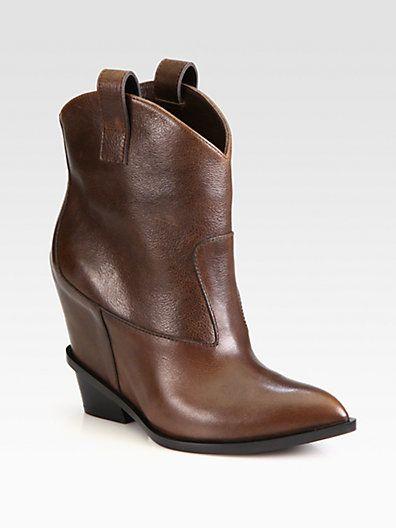 c61359d9cd9e Giuseppe Zanotti Leather Wedge Cowboy Boots