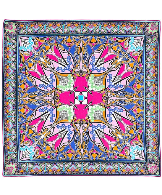 GABRIELLE'S AMAZING FANTASY CLOSET | Liberty London | Pink New Lanthe Print Twill Silk Scarf