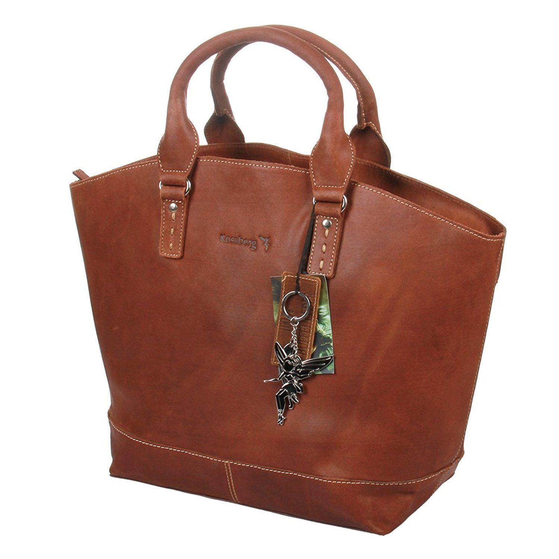 ad280033b8e73 Modell Alexia  Leder rau  Shopper  Tasche  Schultertasche von Marvinia  Kossberg ( Braun)   Handtaschen  Leder