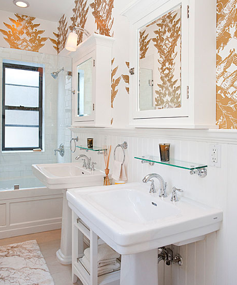 Suzie The Brooklyn Home Company White Gold Bathroom For Two