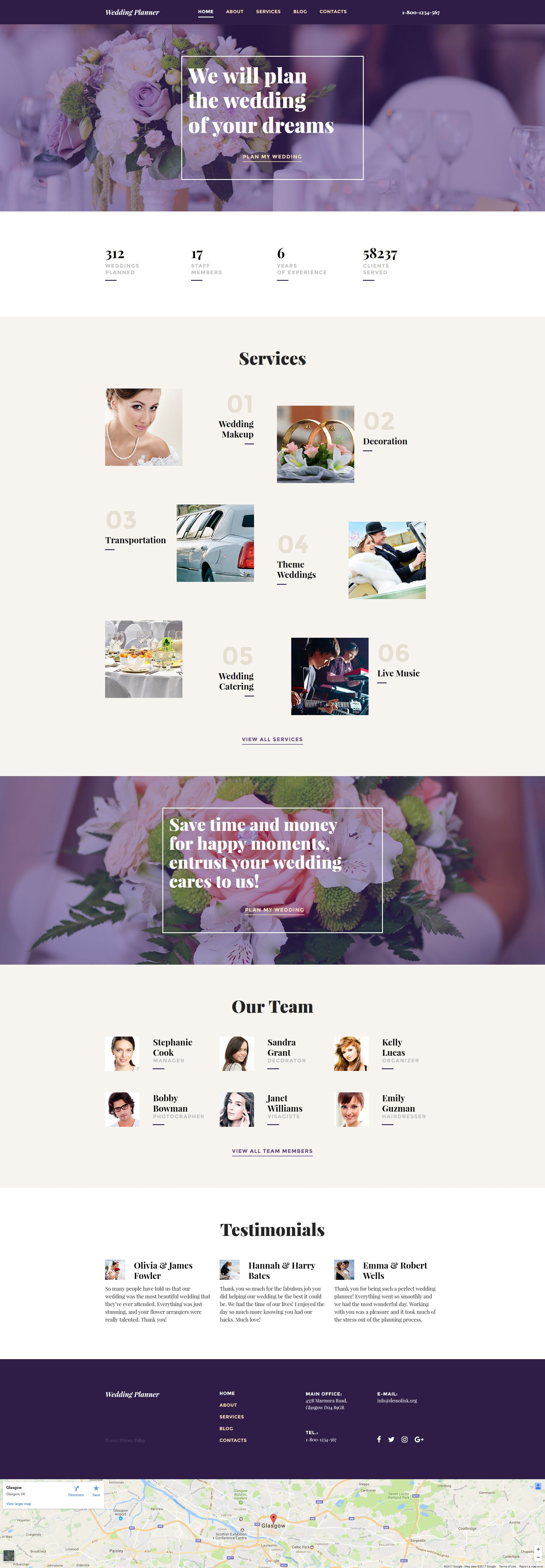 Before You It Take A Closer Look At This Adorable Wedding Planner Responsive Moto Cms 3 Template Get To Know Technical Specifics And Requirements