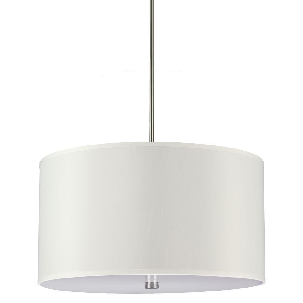 Sea gull lighting dayna 4 light brushed nickel shade pendant sea gull lighting dayna 4 light brushed nickel shade pendant overstock shopping mozeypictures Image collections