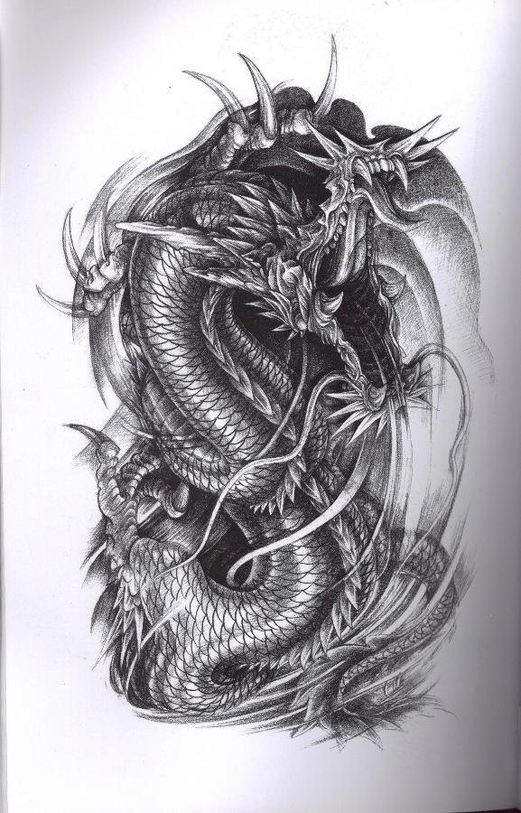 dragon tattoo art tattoos pinterest tattoo art dragons and tattoo. Black Bedroom Furniture Sets. Home Design Ideas
