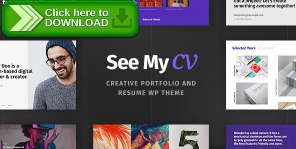 Free nulled See My CV - Resume \ vCard WordPress Theme download - my cv resume