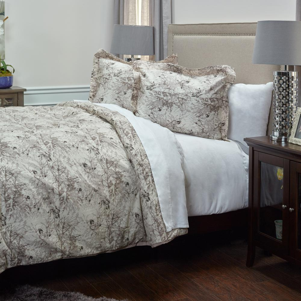 Rizzy Home Vintage 3-Piece Ivory Floral Queen Comforter