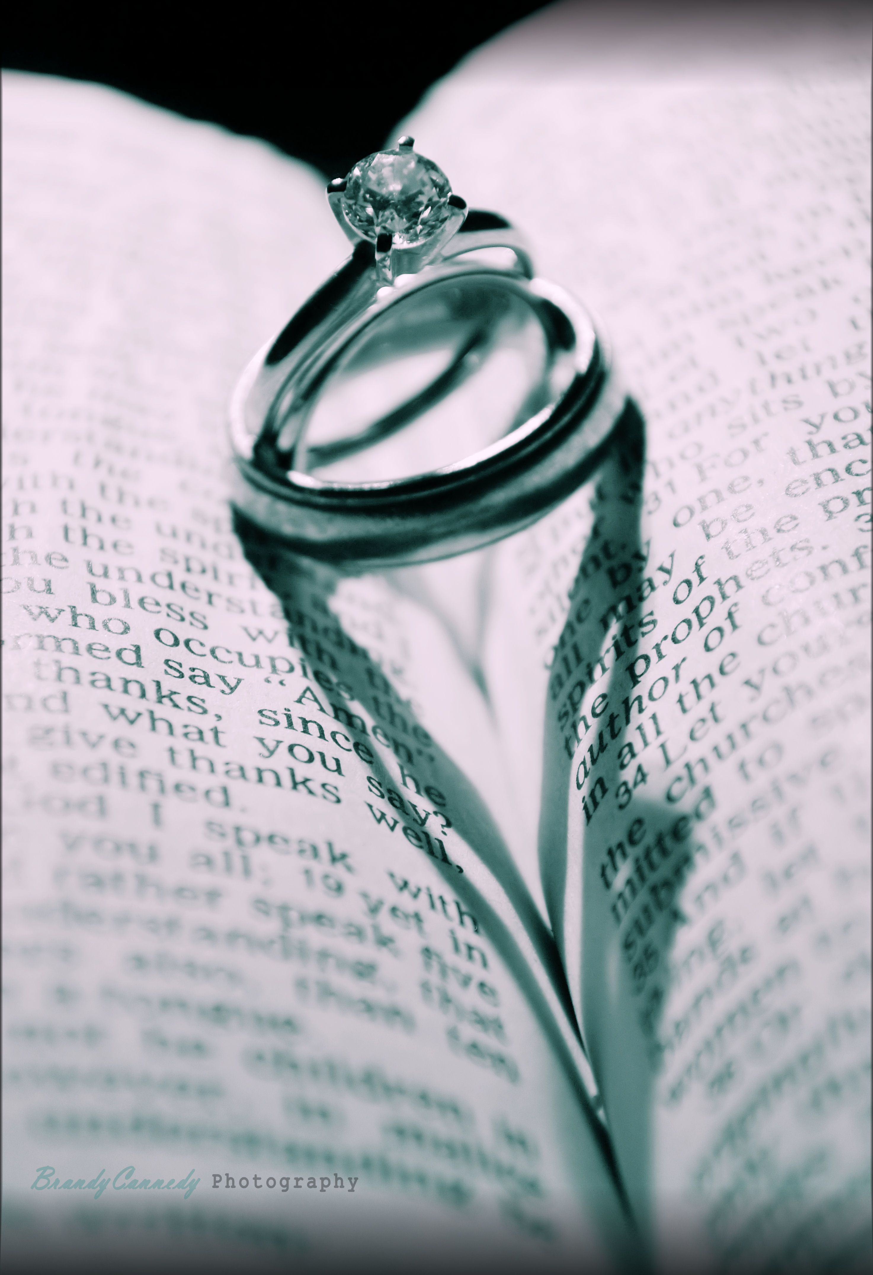 heart shadow with wedding rings on bible photography pinterest