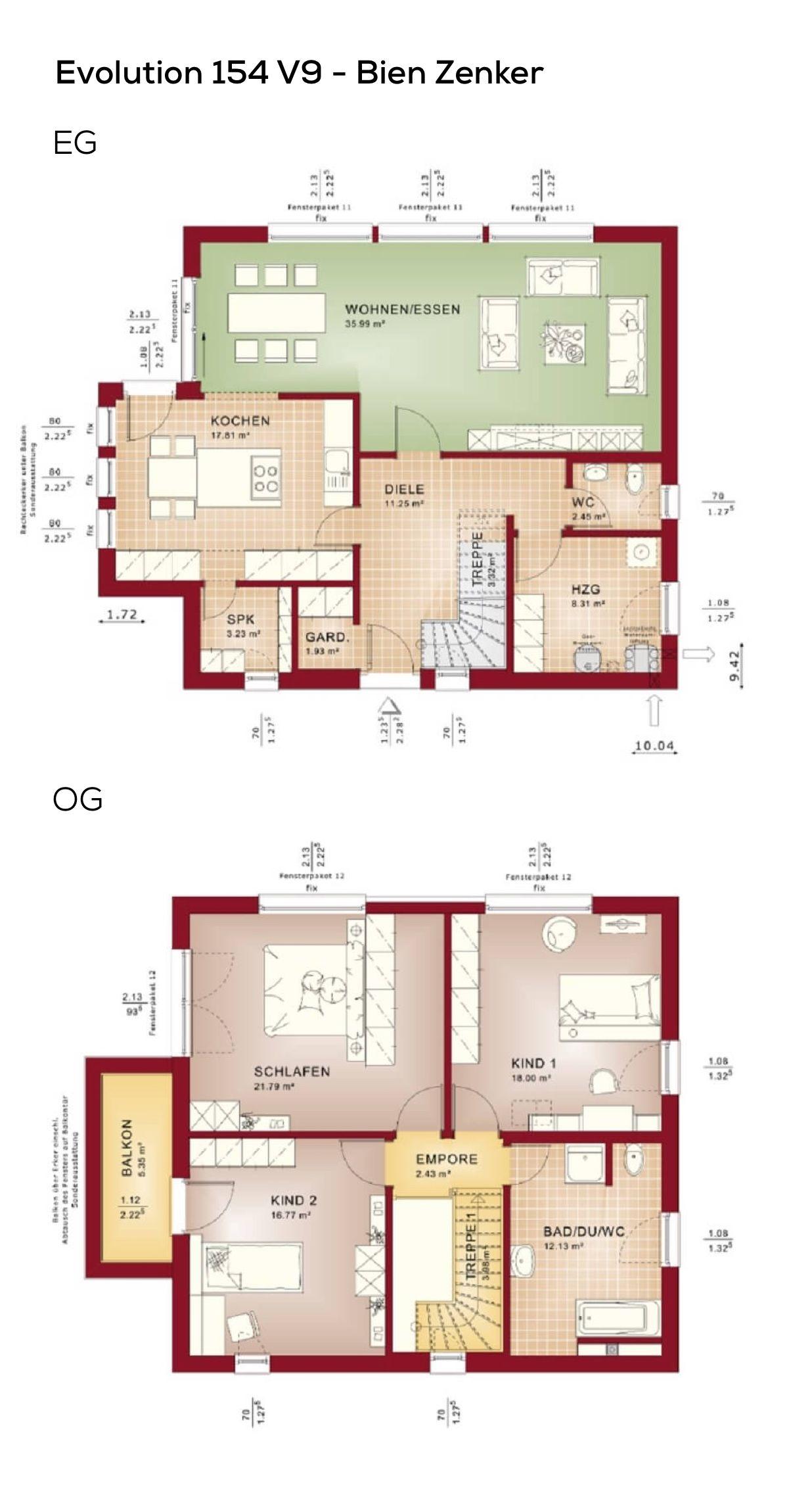 Grundriss Stadtvilla modern im Bauhausstil mit Flachdach Architektur ...