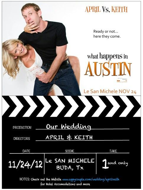 Cinematic Movie Poster Save The Date Wedding Movie What