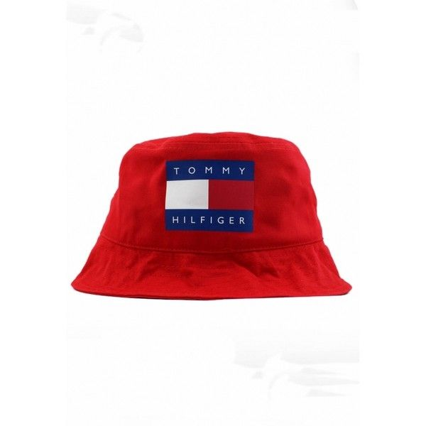 Vintage Tommy Hilfiger Bucket Hat ( 24) ❤ liked on Polyvore featuring  accessories 8dade0f4f74b