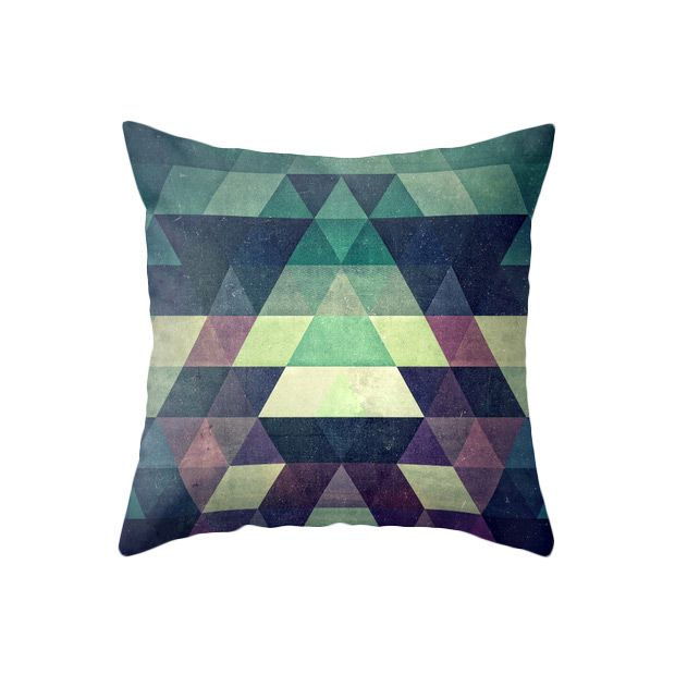 The hypnotizing Purple Pattern Pillow plays with shades of purple for a striking geometric…