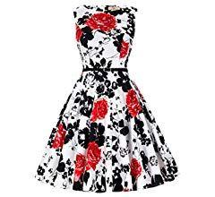 damenkleider elegant rockabilly kleid festliches kleid 50s ...