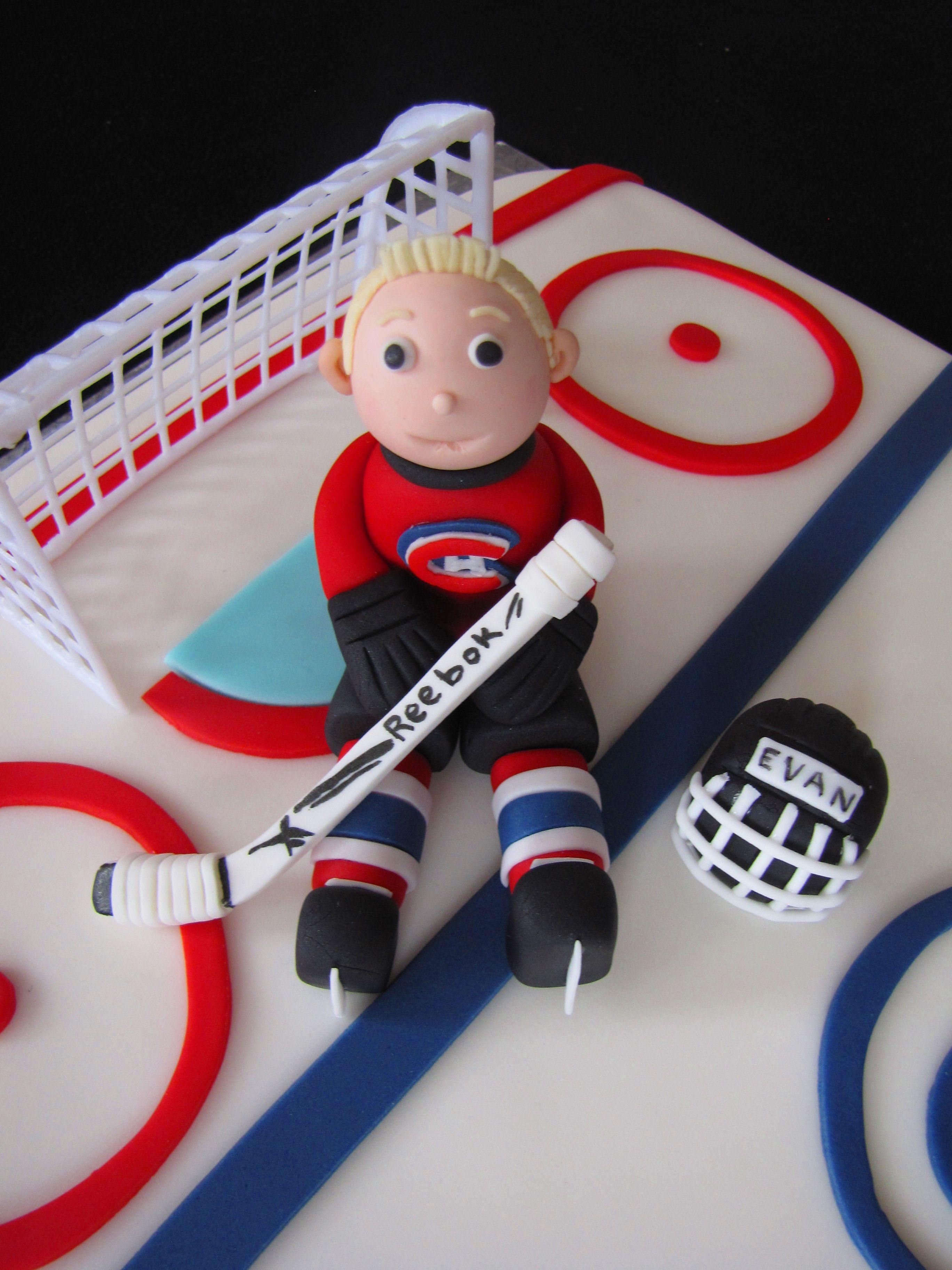 Hockey Player Cake Hockey Cakes Birthday Cake Kids Fondant People