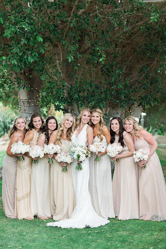 Match summer bridesmaid dresses