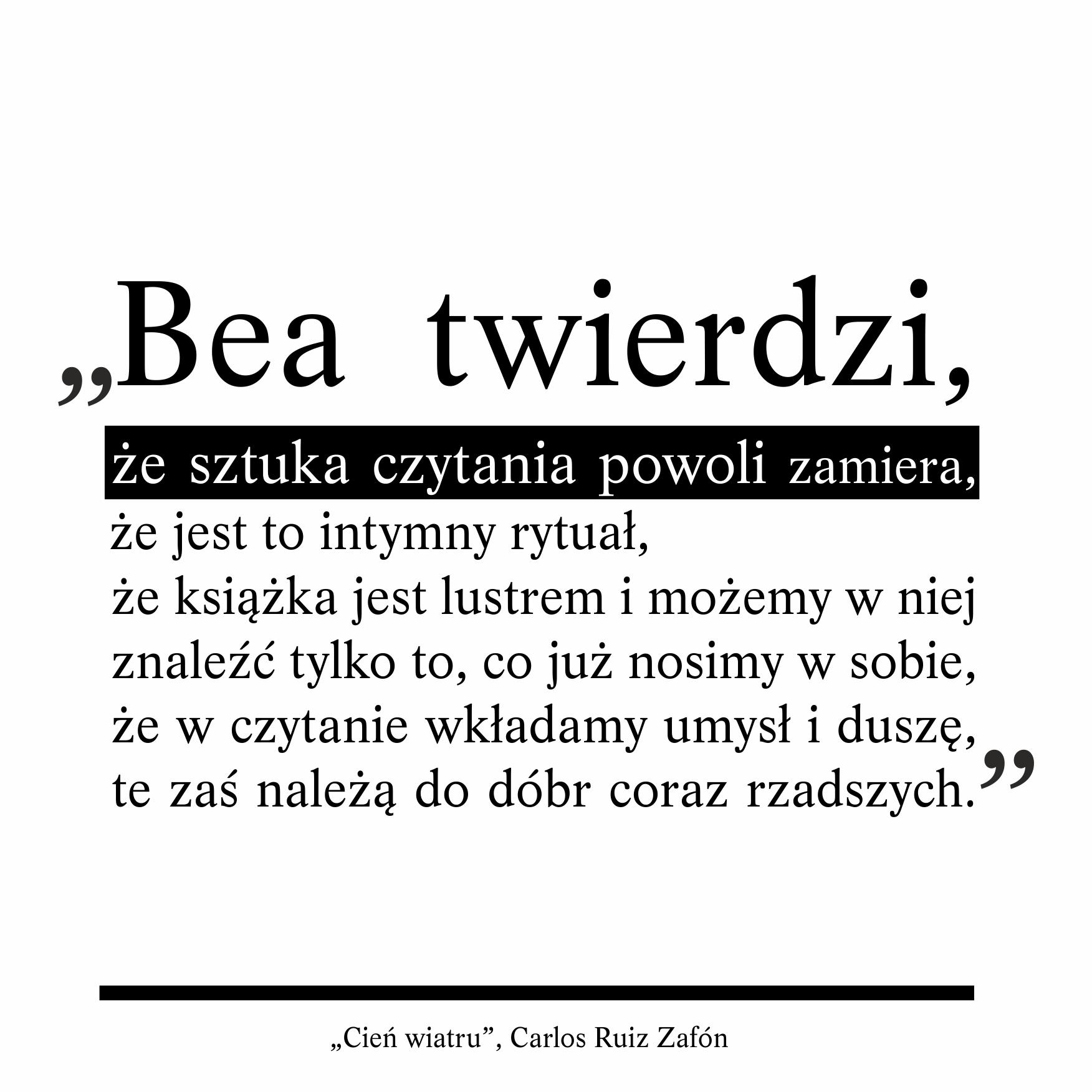 Cytaty Książki Cień Wiatru Miłośnicy Książek Czytanie
