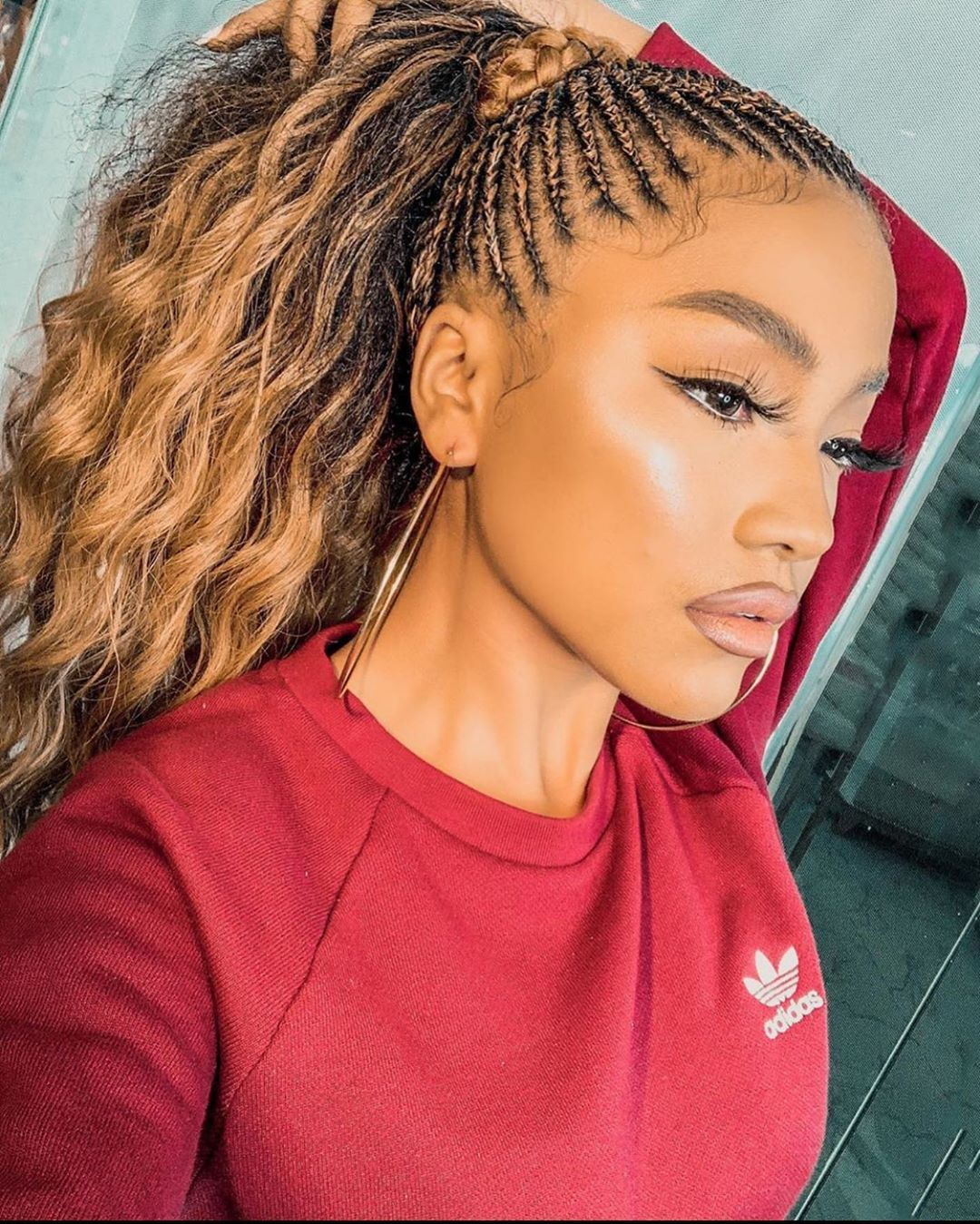 1 303 Likes 9 Comments Fashion Bomb Hair Fashionbombhair On Instagram Braided Styles By Fw In 2020 Quick Braided Hairstyles Hair Styles New Braided Hairstyles