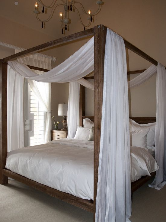 Canopy Bed Frame Remodel Bedroom, Bed Canopy Curtains Ideas