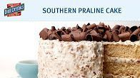 Southern Praline Layer Cake with Pecan Buttercream Frosting #pralinecake