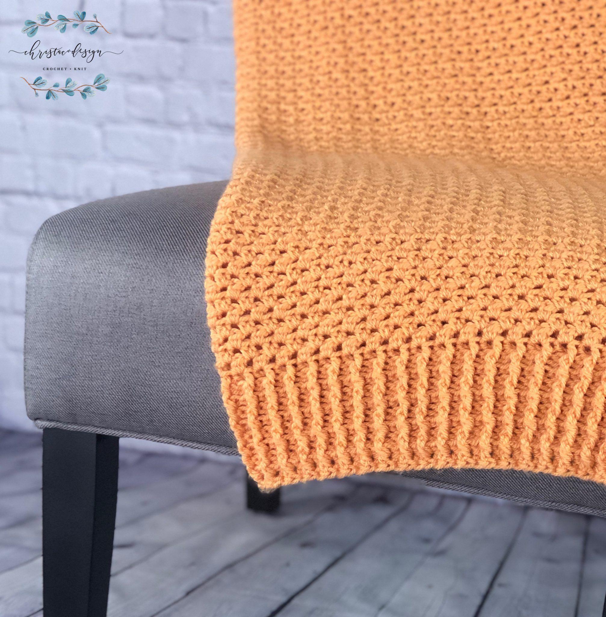 Couverture entre les crêtes un modèle de crochet gratuit   – Crochet Patterns