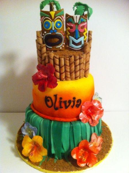 Luau Cakes Tiki Luau Cake Decorating Community Cakes We Bake