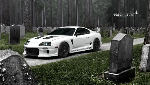 Exceptionnel White Toyota Supra In A Graveyard