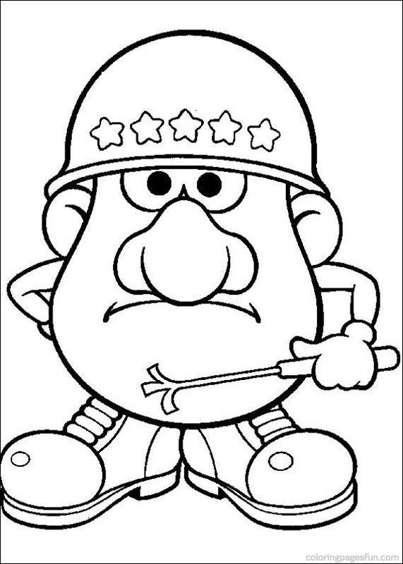 Mr. Potato Head Coloring Pages 3 | Pictures to color! | Pinterest ...