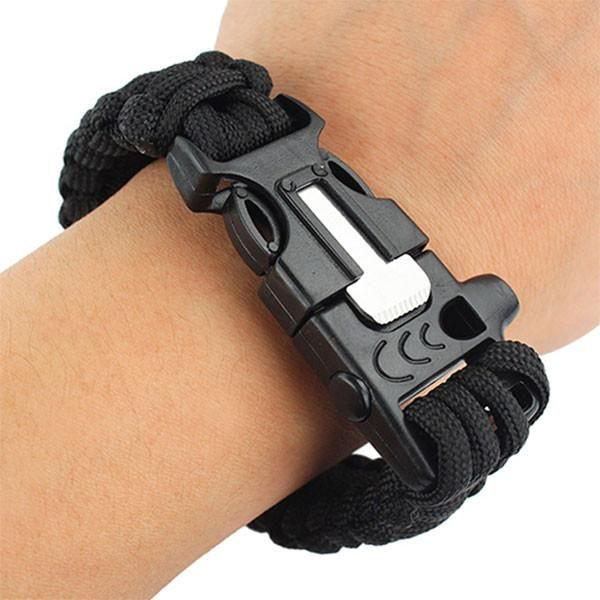 4-in-1 Fire Starter Paracord Bracelet