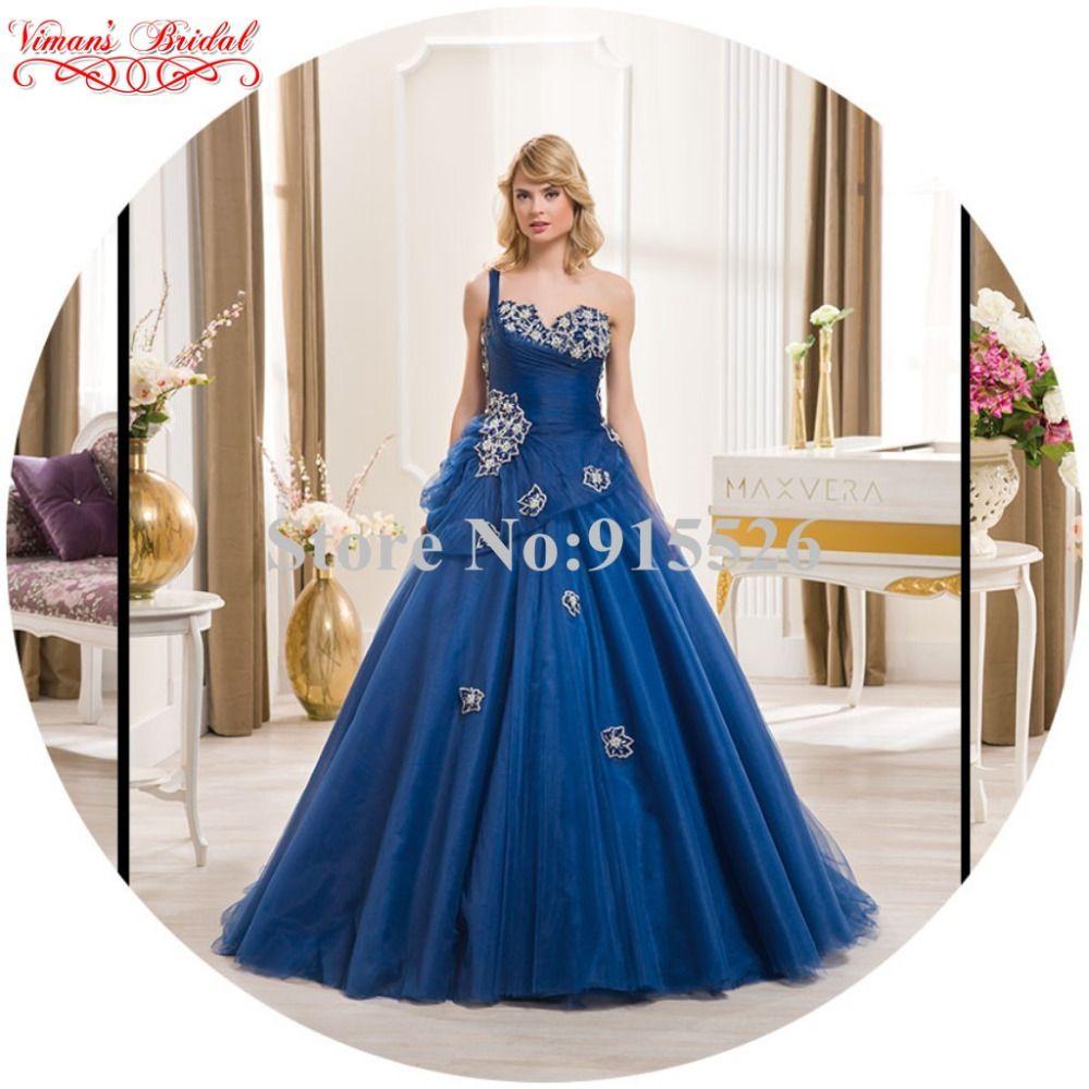 Click to buy ucuc vimanus bridal blue vestidos de novia princesa