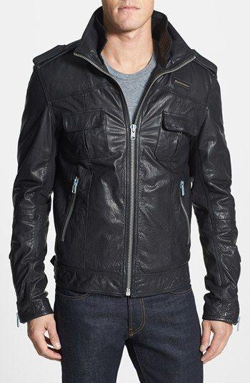 Superdry Ryan Leather Jacket Leather Jacket Jackets Bike Jacket