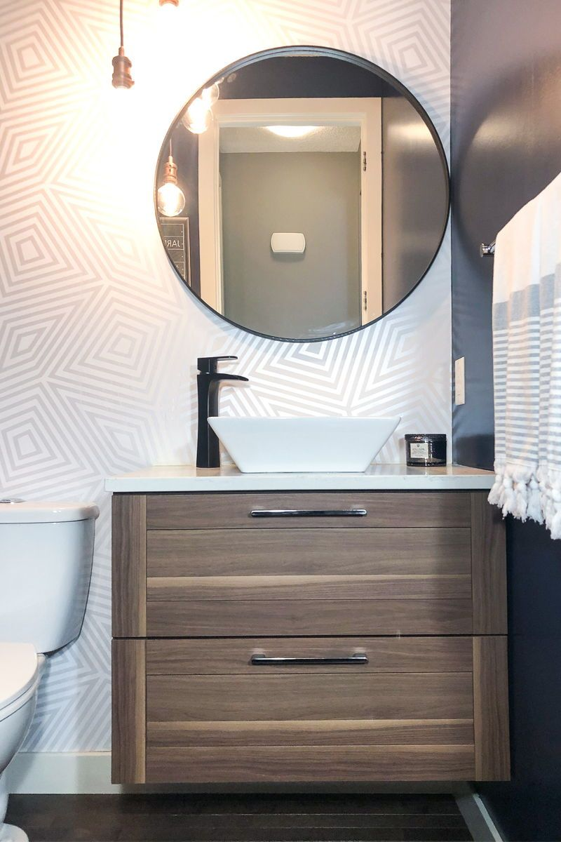 Full Reveal: My Powder Room Renovation #bathroomrenoideas