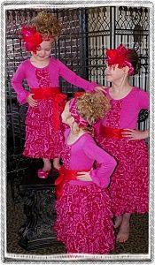 Dresslikeanangel.com Red Raspberry Ruffles With Matching Headwrap $45