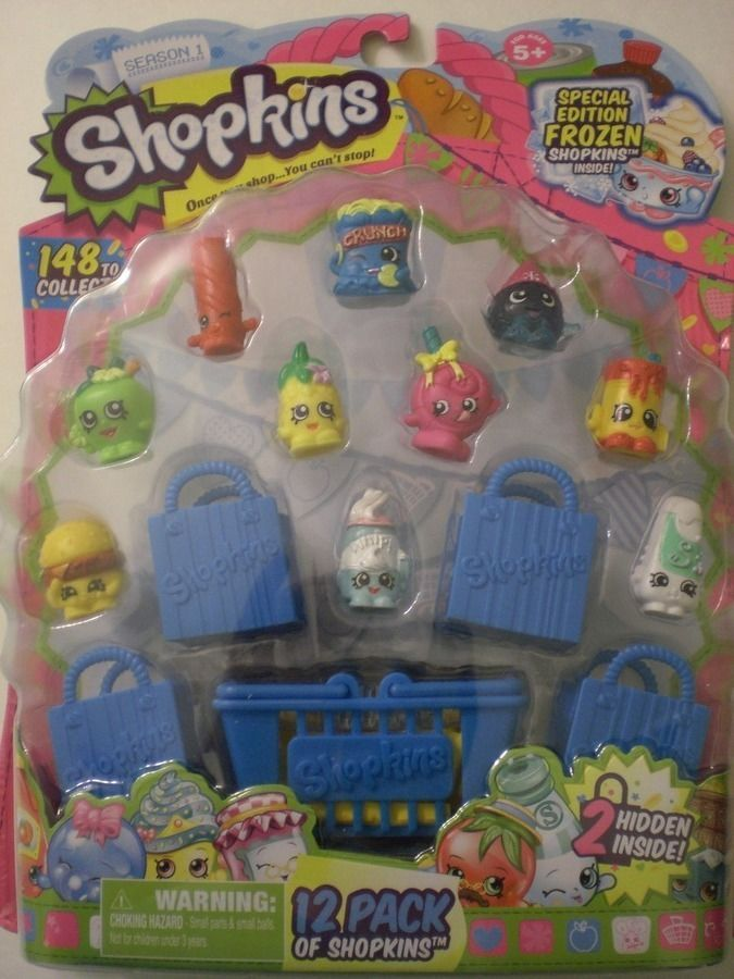 Shopkins 12 pack Season 1 Special Edition Frozen + 2 Hidden 4 RARE