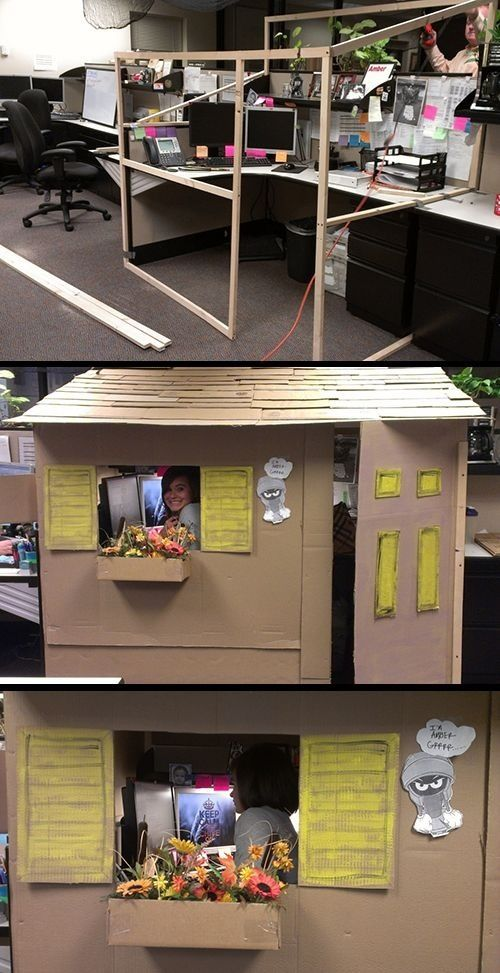 If I Ever End Up In A Cubicle I Will Build Me A House Cubicle