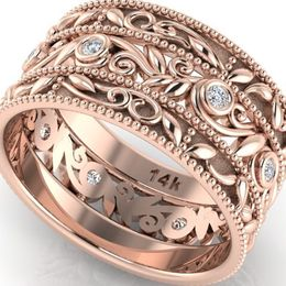 Engagement And Wedding Rings Diamond Band Rose Gold Eternity