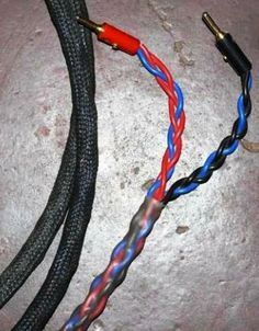 Close Up Of Diy Braided Speaker Cable Speaker Cables Speaker Cable Speaker