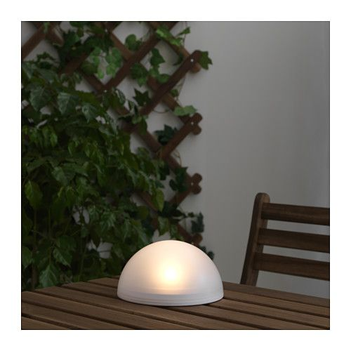 SOLVINDEN LED solar powered light half globe