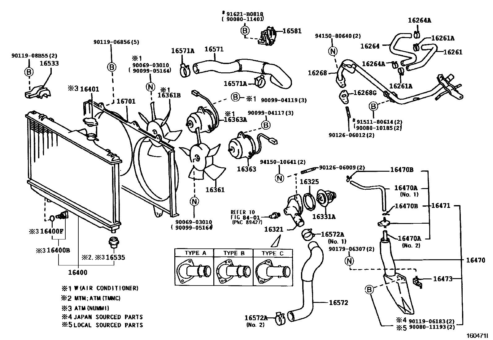 small resolution of corolla diy 1998 toyota corolla ve 1zzfe zze110 radiator and w