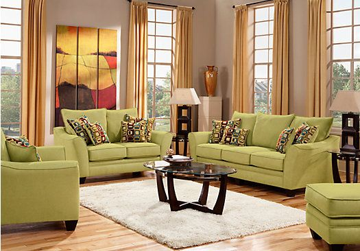 Best Picture Of Santa Monica Green 7Pc Classic Living Room From 400 x 300