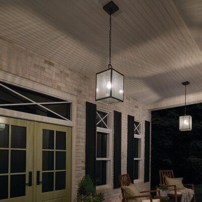 17 Stories Fincastle Brown 1-Bulb 17.25 H Outdoor Pendant