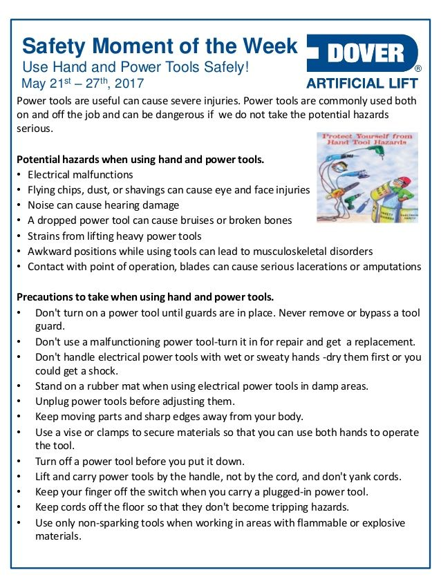 Use Hand & Power Tools Safely! Alberta Oil Tool's Safety