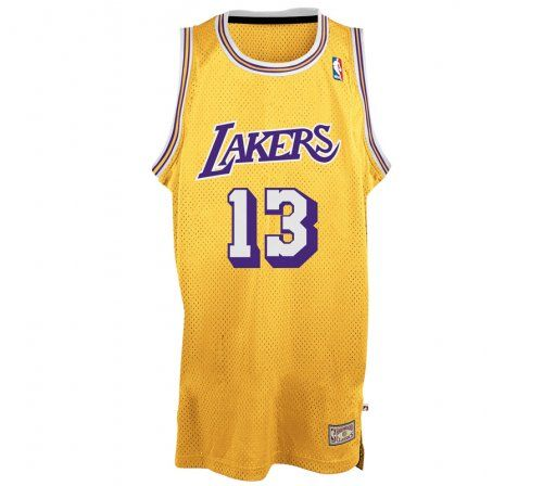 60406073a69 Wilt Chamberlain Los Angeles Lakers 13 NBA Intl Retired Swingman ...