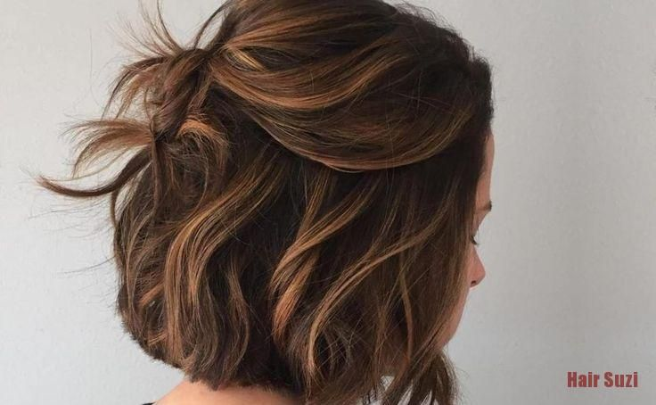 Couleur Ton Sur Ton Avec Balayage Caramel Cheveux Courts Balayage Avec Balaya Balayage Caramel Cheveux Courts Couleur Cheveux Court Balayage Cheveux Courts