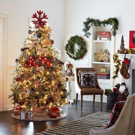 7ft Black Pre Lit Christmas Tree: 7.5ft. Pre-Lit Quick Set™ Jasper Cashmere Artificial