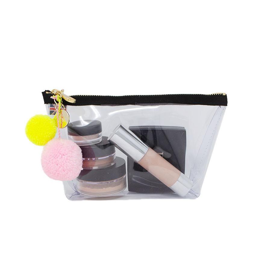 Alicia Kleine durchsichtige Make-up-Tasche – Weiß