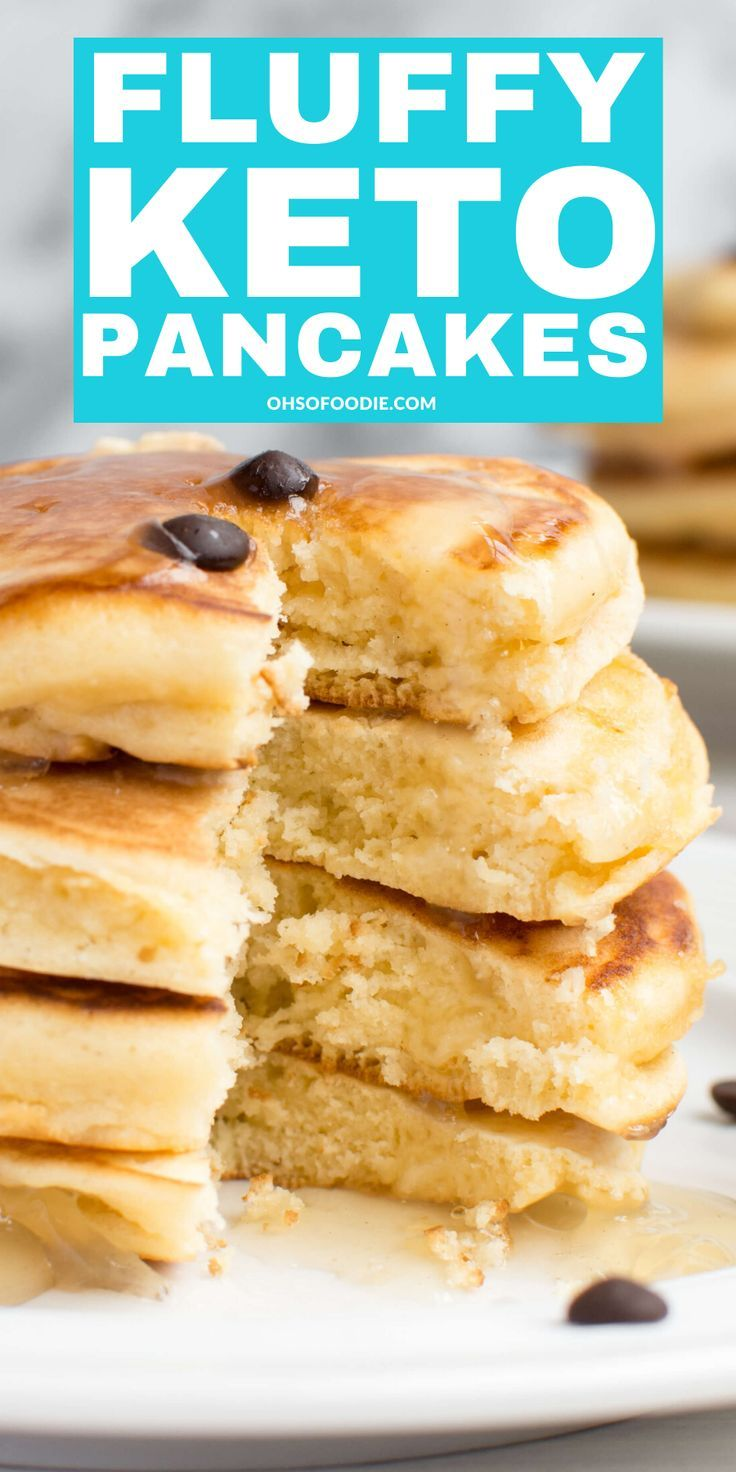 Fluffy Low Carb Keto Cream Cheese Pancakes - Oh So Foodie