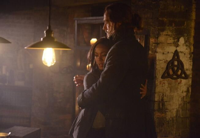 Ichabod and Abbie. Thank God - they finally hugged.