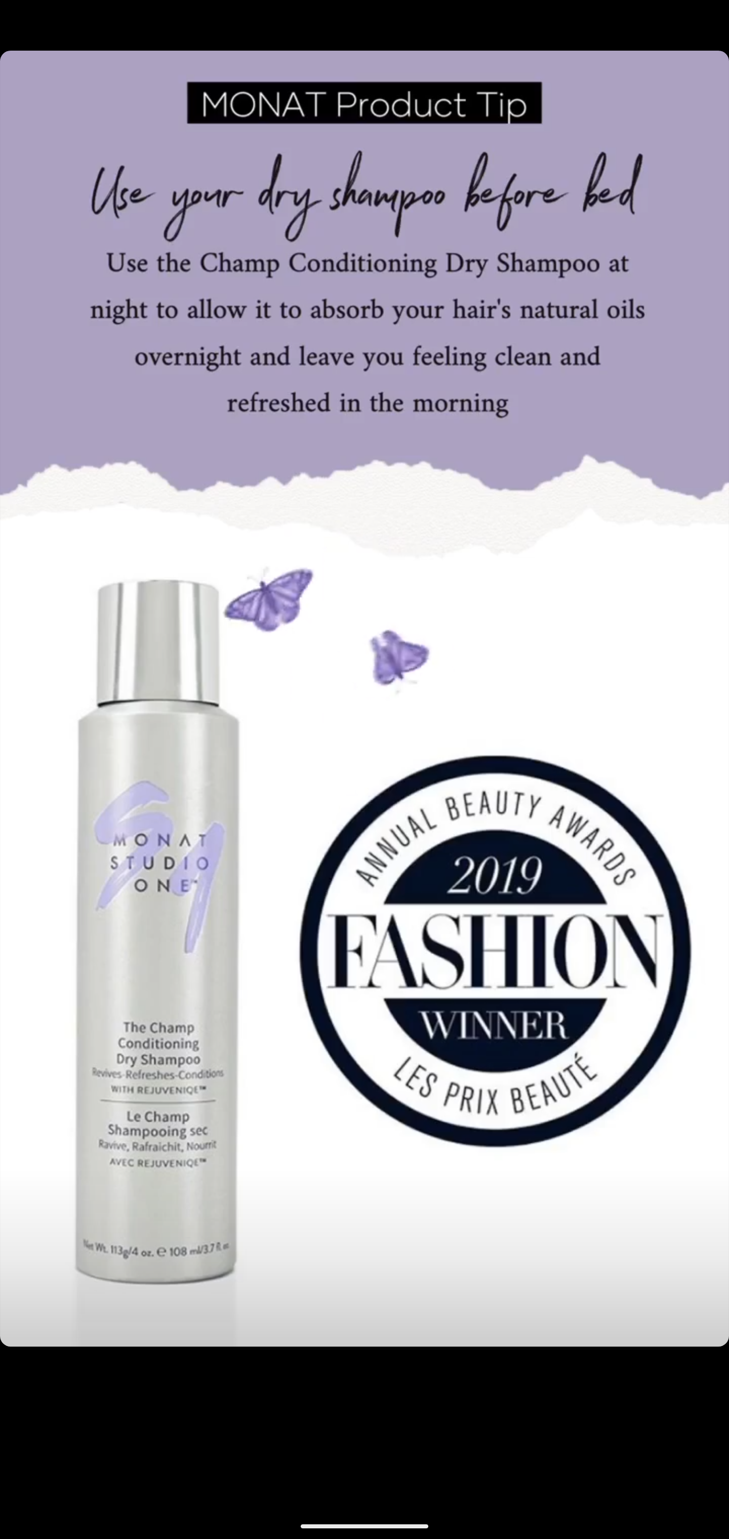 Monat Product Tip - The Champ Dry Shampoo